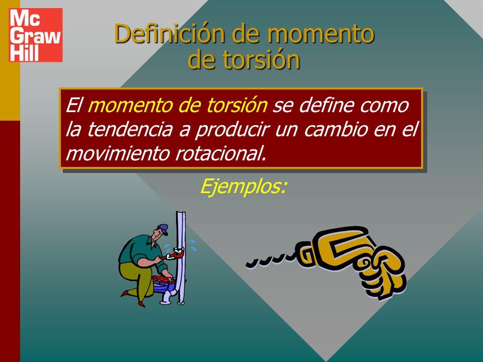 Definición de momento de torsión