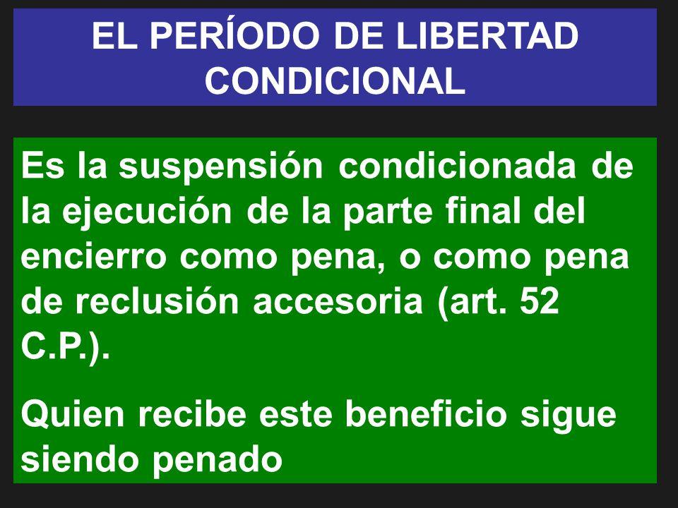 EL PERÍODO DE LIBERTAD CONDICIONAL
