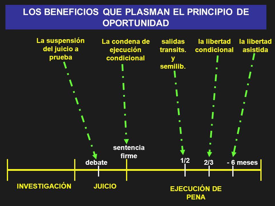 LOS BENEFICIOS QUE PLASMAN EL PRINCIPIO DE OPORTUNIDAD