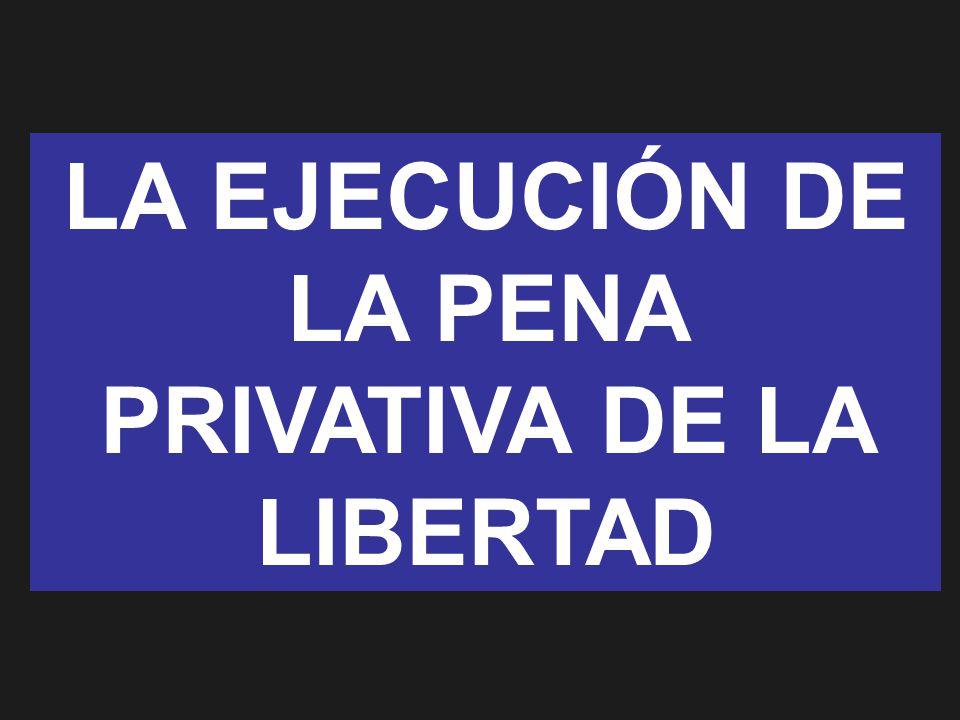 LA EJECUCIÓN DE LA PENA PRIVATIVA DE LA LIBERTAD