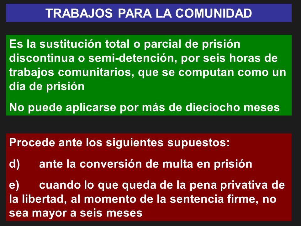 TRABAJOS PARA LA COMUNIDAD