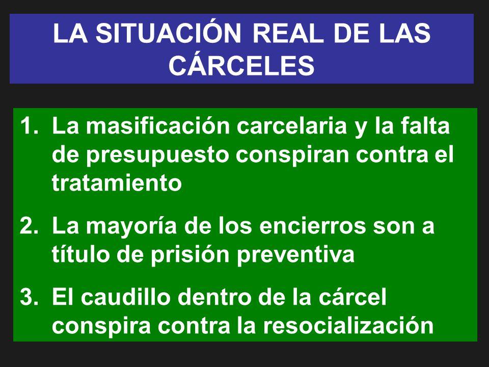 LA SITUACIÓN REAL DE LAS CÁRCELES