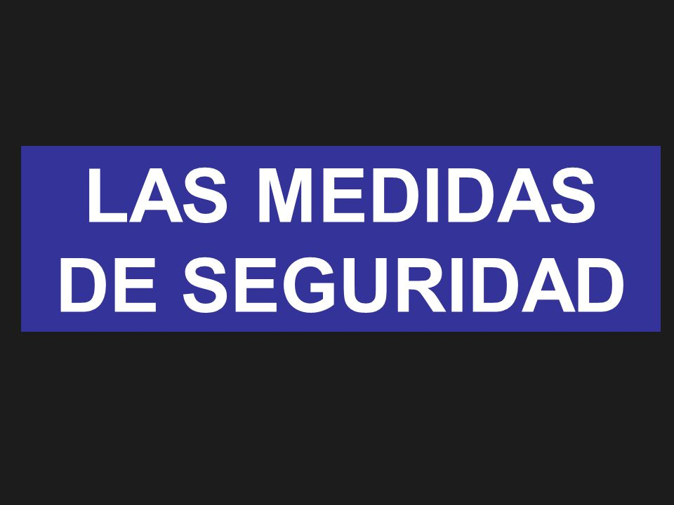 LAS MEDIDAS DE SEGURIDAD