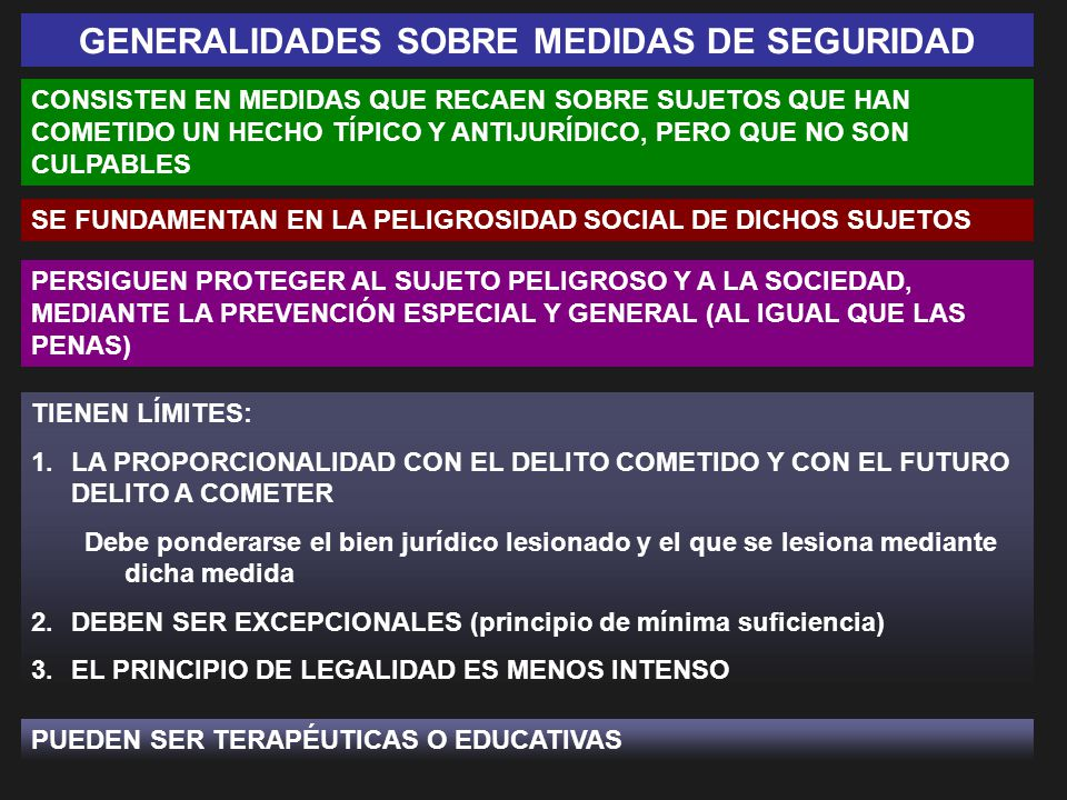 GENERALIDADES SOBRE MEDIDAS DE SEGURIDAD