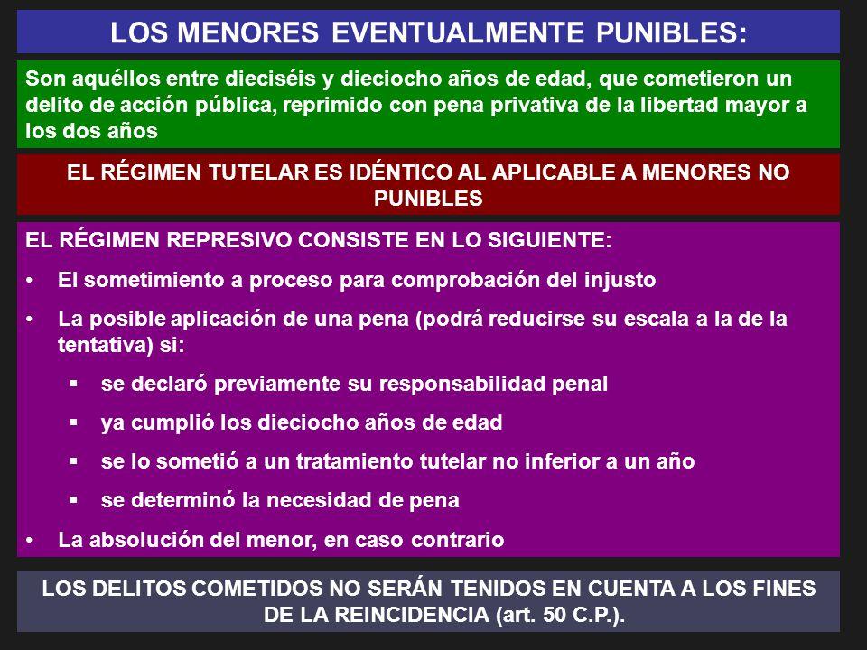 LOS MENORES EVENTUALMENTE PUNIBLES: