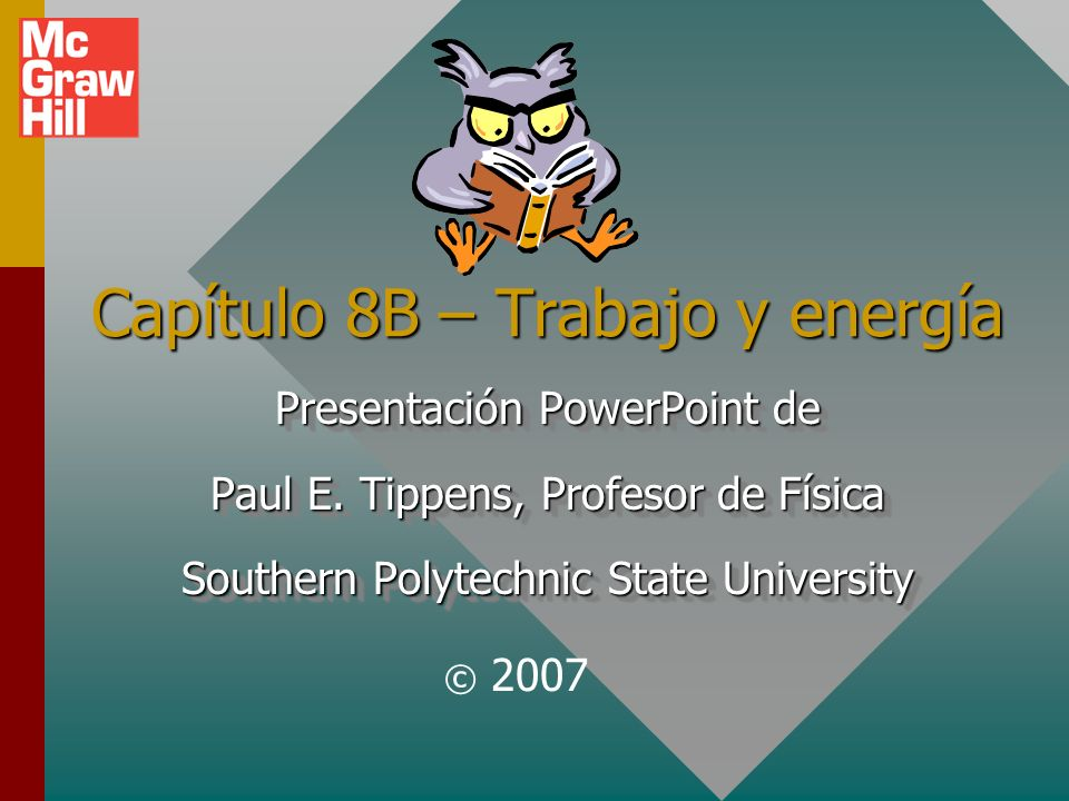 Capítulo 8B – Trabajo y energía