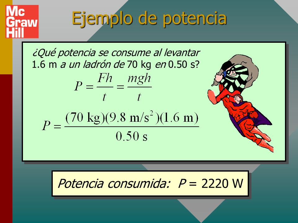 Potencia consumida: P = 2220 W
