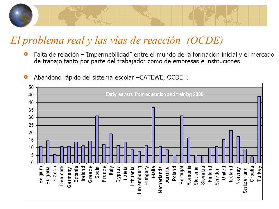 El problema real y las vías de reacción (OCDE)