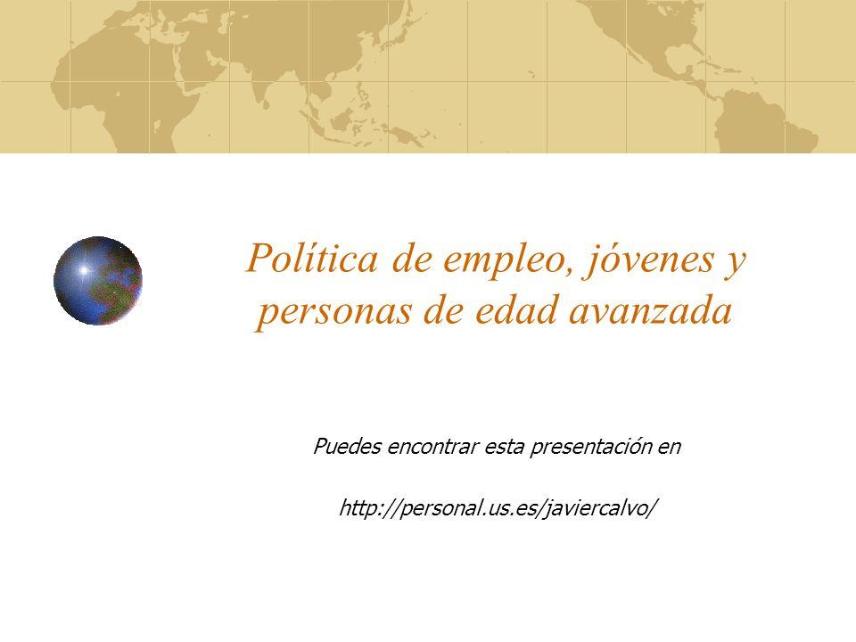 Política de empleo, jóvenes y personas de edad avanzada