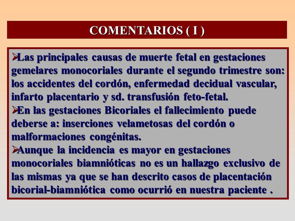COMENTARIOS ( II )