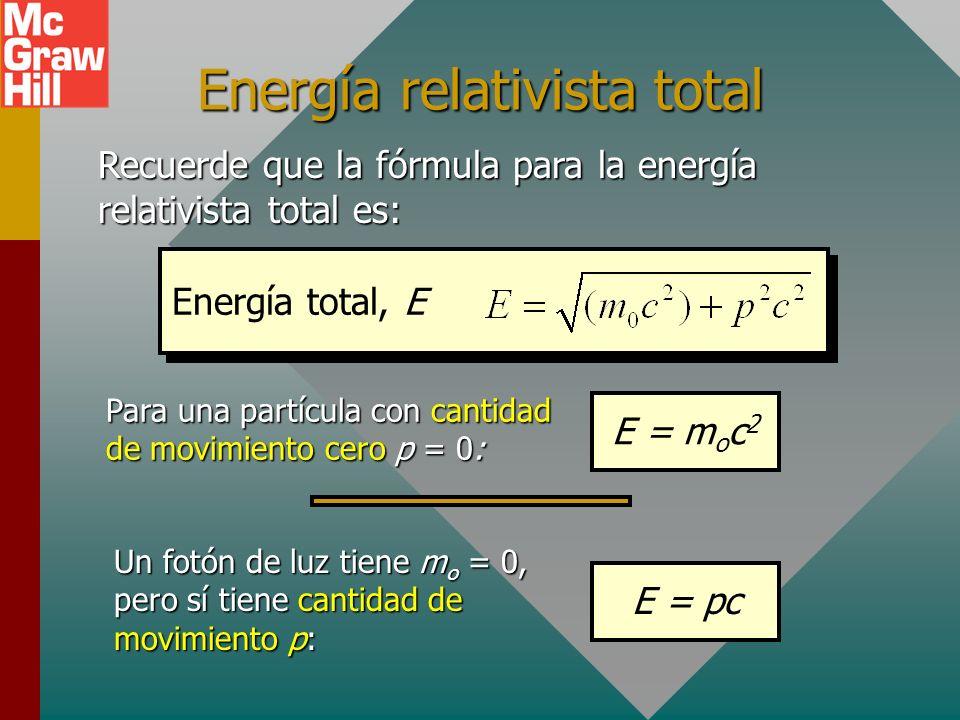 Energía relativista total