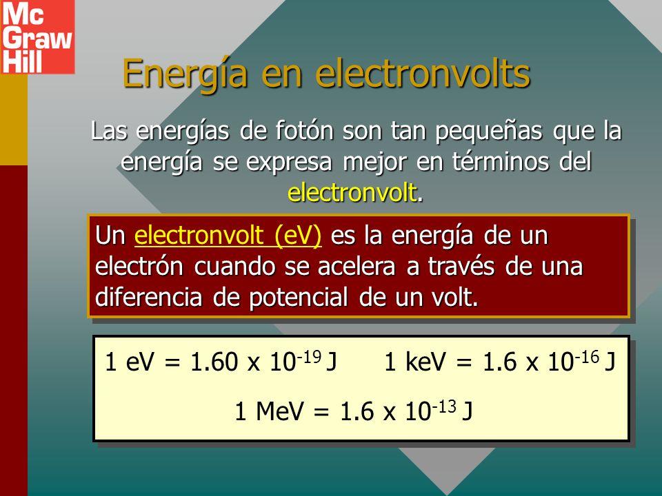 Energía en electronvolts
