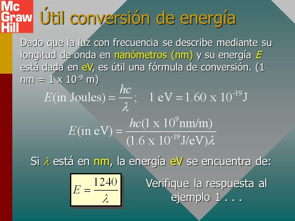 Útil conversión de energía