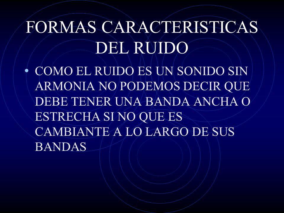 FORMAS CARACTERISTICAS DEL RUIDO