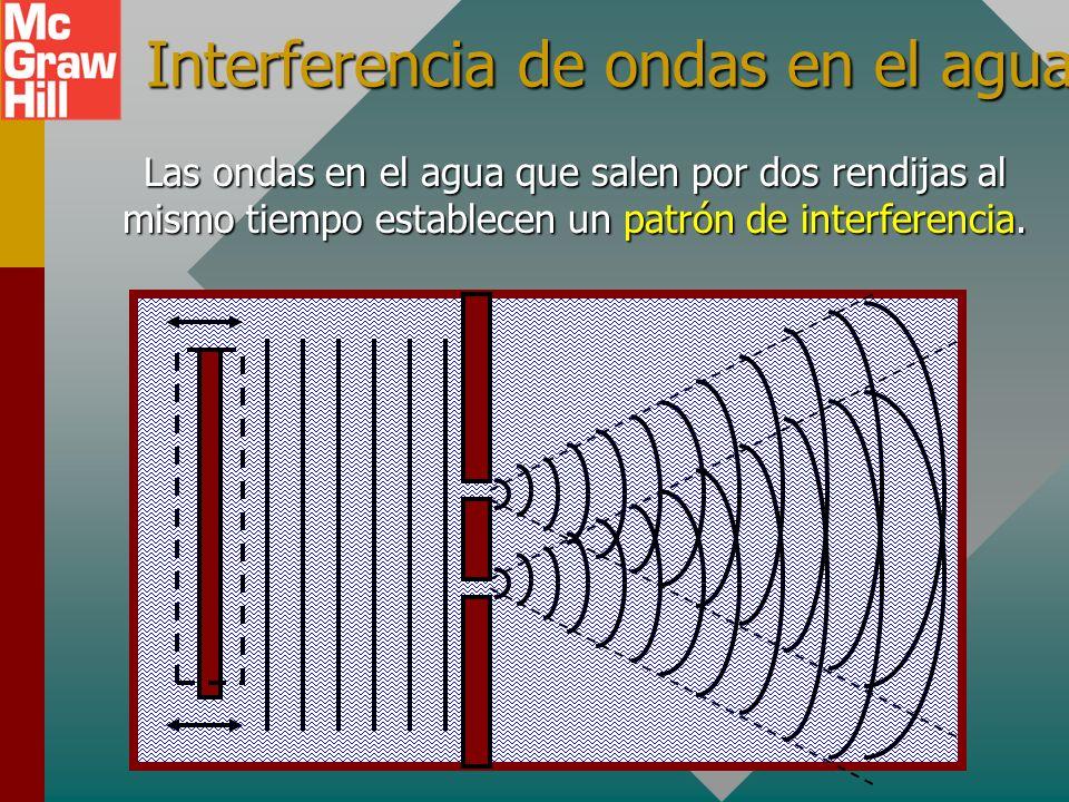 Interferencia de ondas en el agua