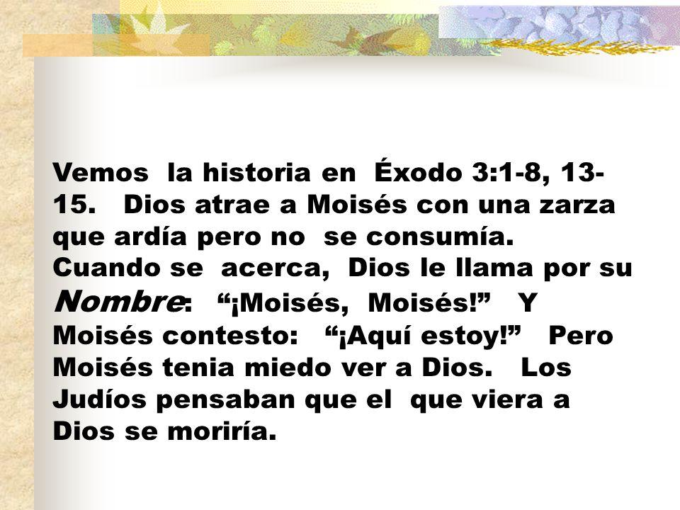 Vemos la historia en Éxodo 3:1-8, 13-15