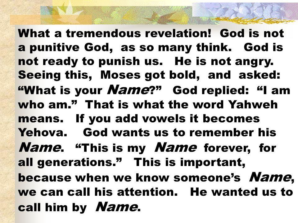 What a tremendous revelation
