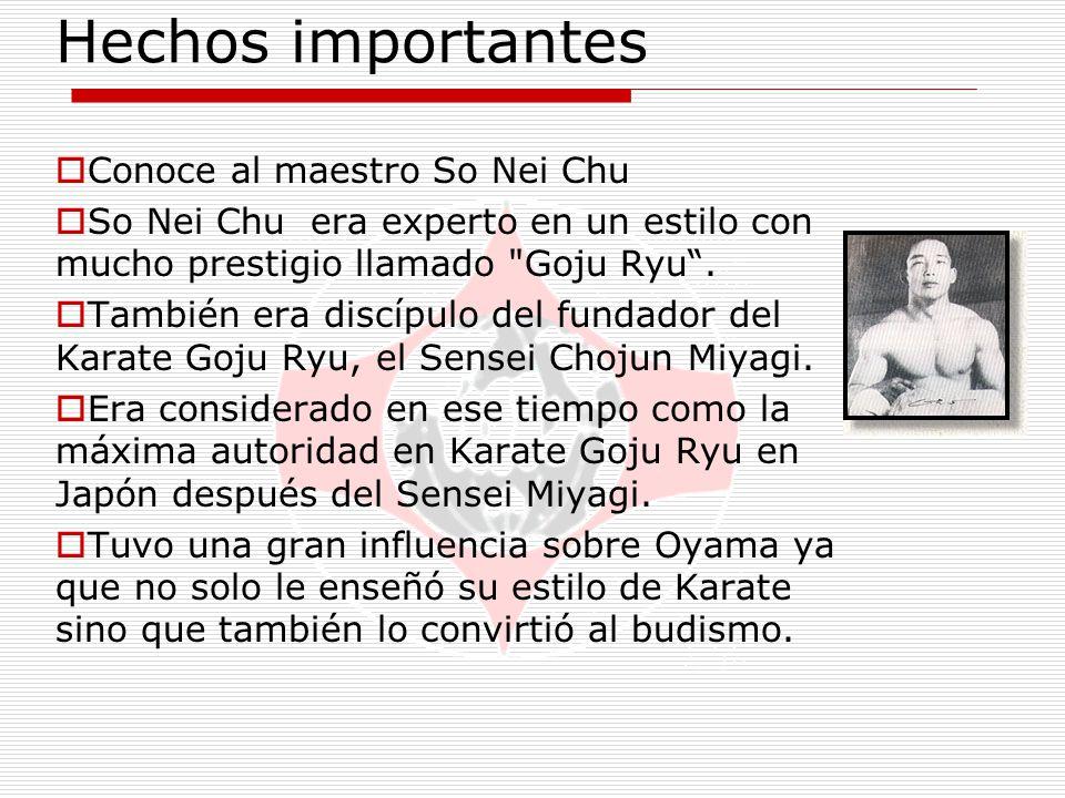 Hechos importantes Conoce al maestro So Nei Chu
