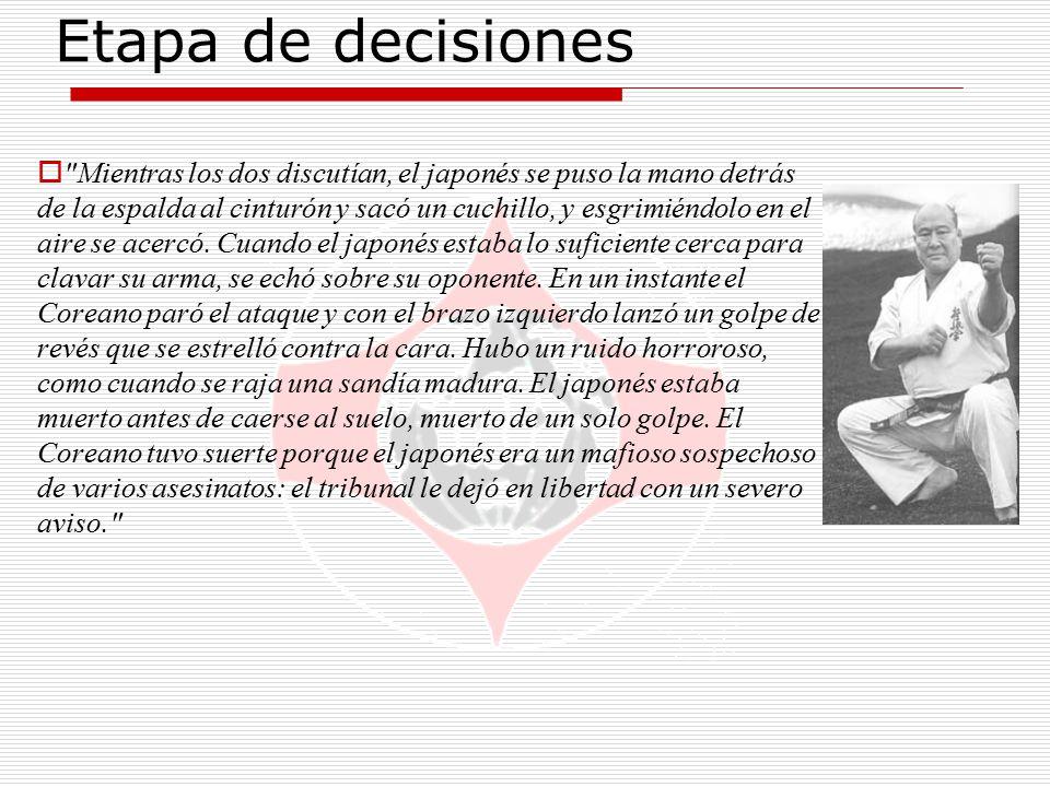 Etapa de decisiones