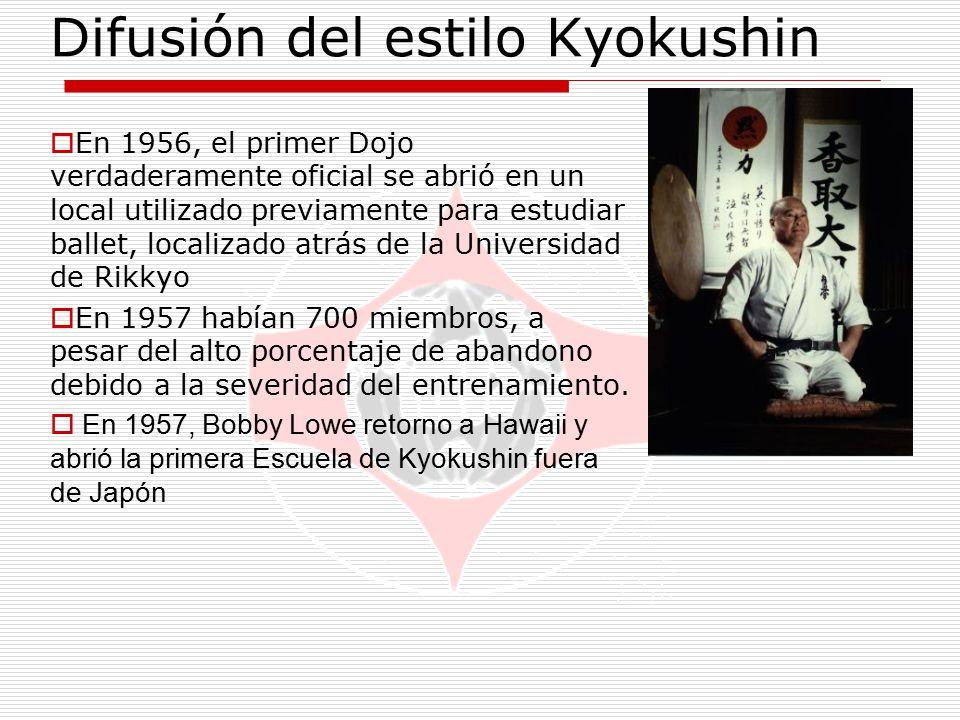 Difusión del estilo Kyokushin