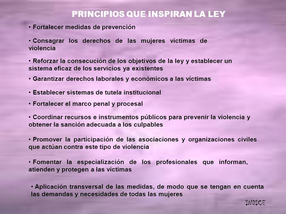 PRINCIPIOS QUE INSPIRAN LA LEY