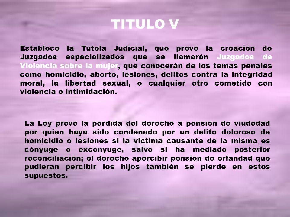 TITULO V