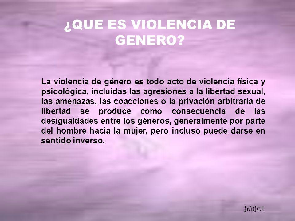 ¿QUE ES VIOLENCIA DE GENERO