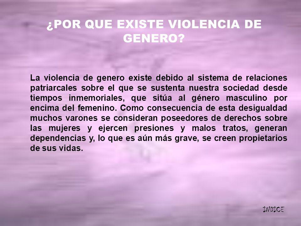 ¿POR QUE EXISTE VIOLENCIA DE GENERO