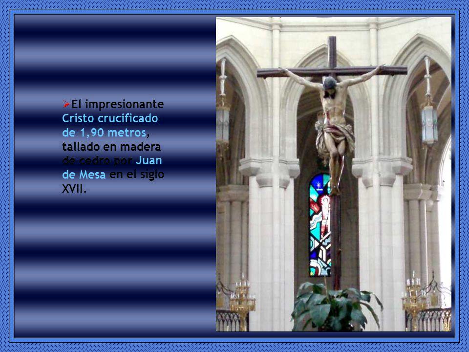 El impresionante Cristo crucificado de 1,90 metros, tallado en madera de cedro por Juan de Mesa en el siglo XVII.