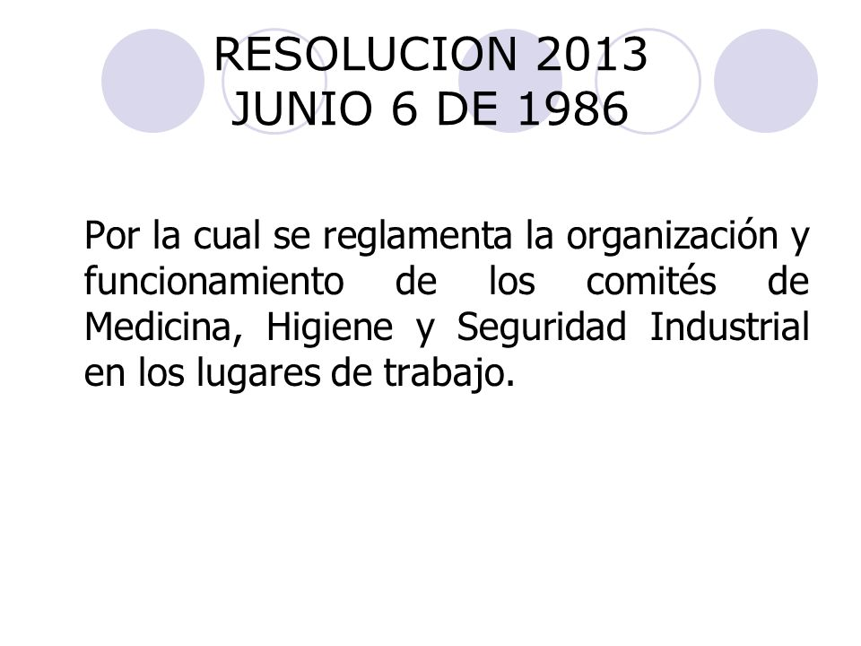 RESOLUCION 2013 JUNIO 6 DE 1986