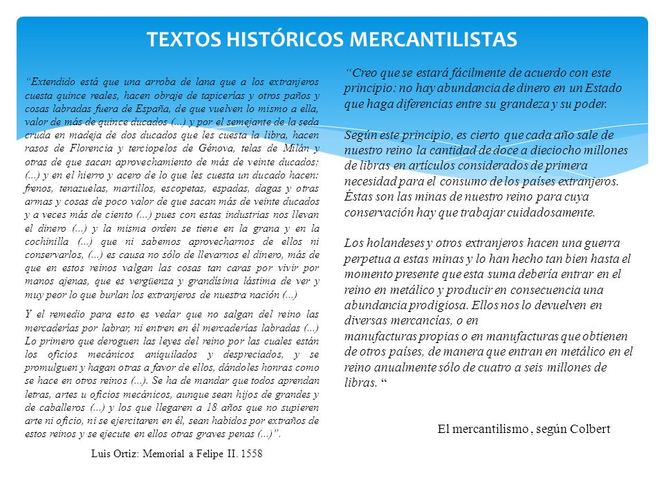 TEXTOS HISTÓRICOS MERCANTILISTAS
