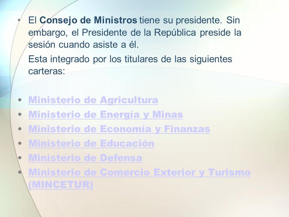 El Consejo de Ministros tiene su presidente