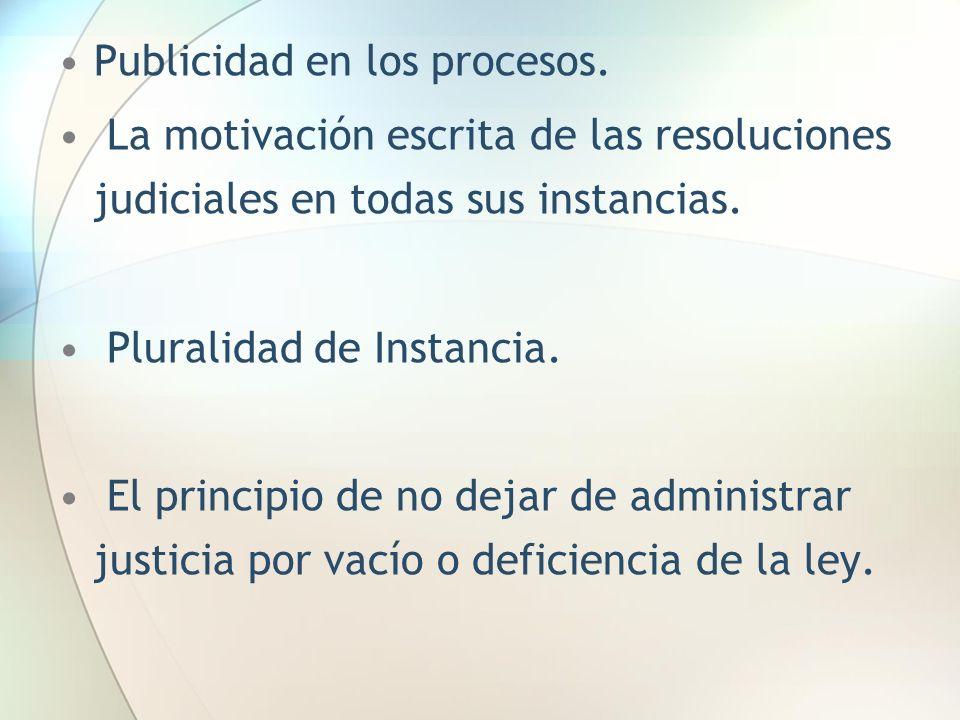 Publicidad en los procesos.