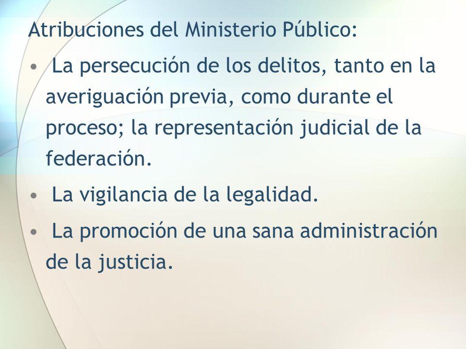 Atribuciones del Ministerio Público: