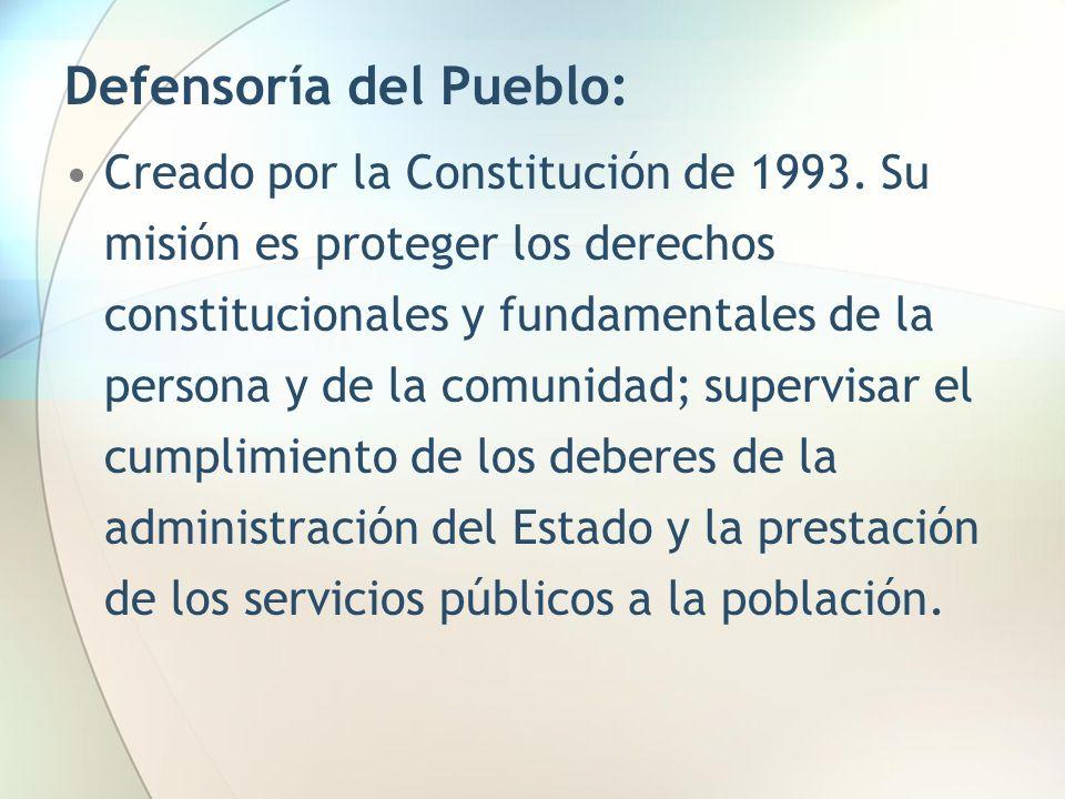 Defensoría del Pueblo: