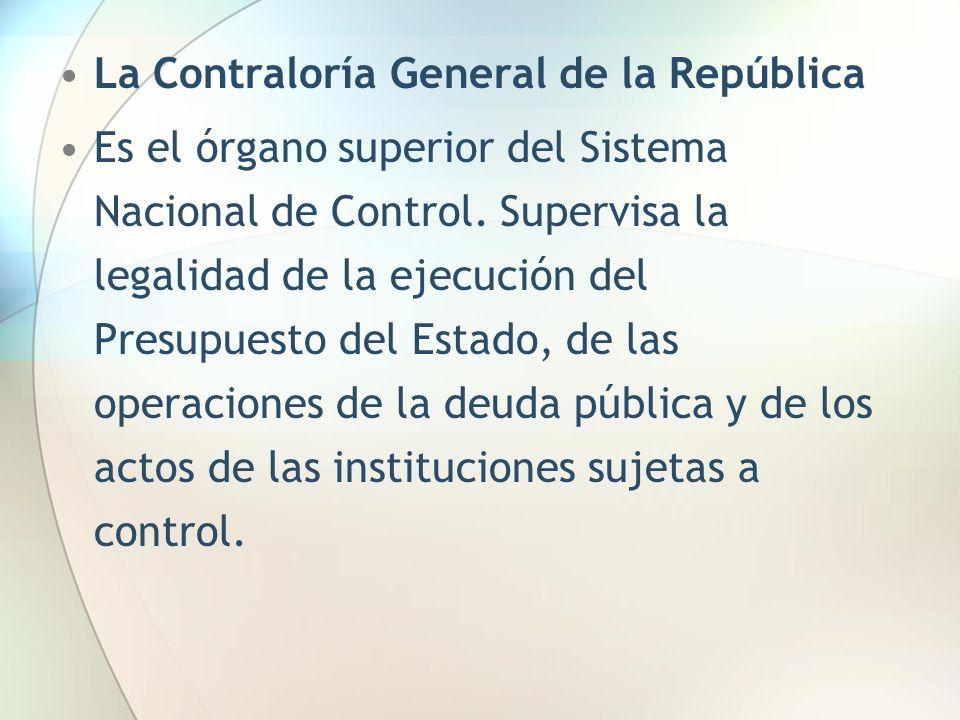 La Contraloría General de la República