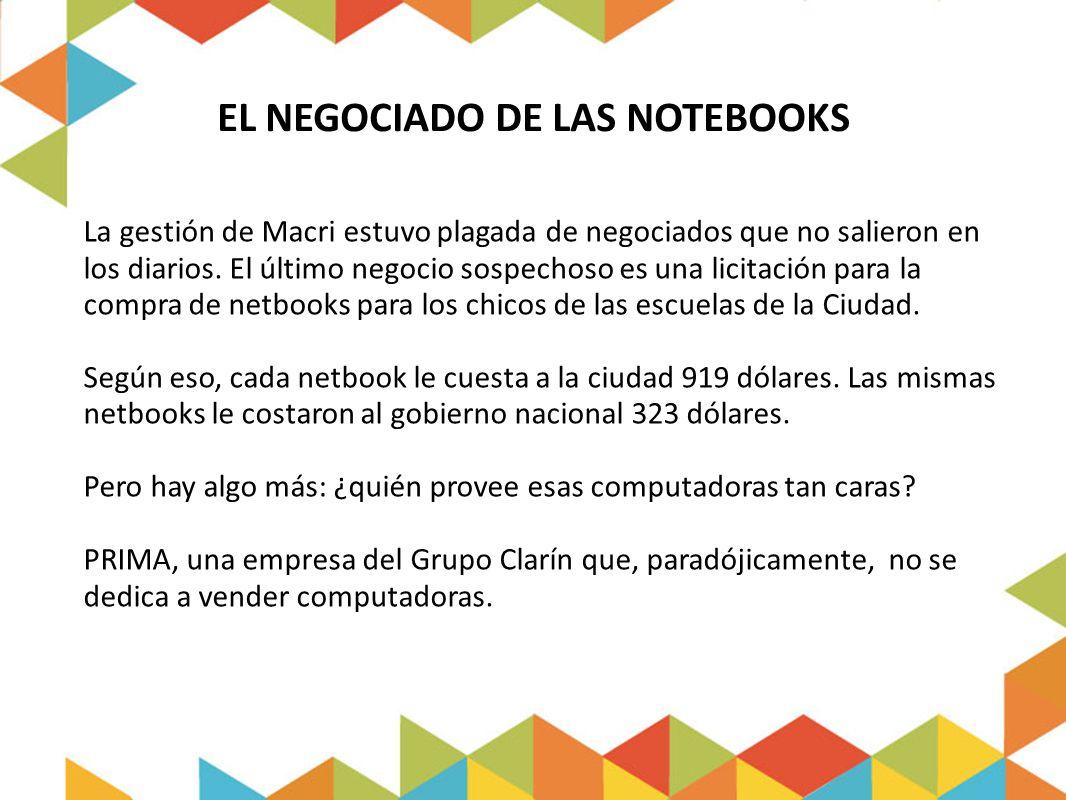 EL NEGOCIADO DE LAS NOTEBOOKS