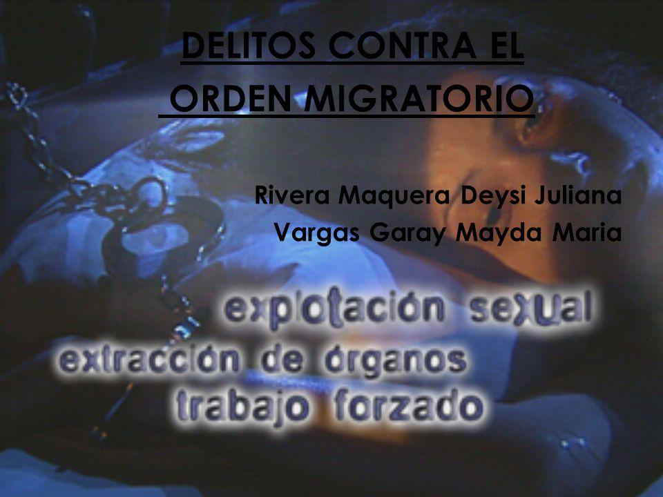 DELITOS CONTRA EL ORDEN MIGRATORIO Rivera Maquera Deysi Juliana