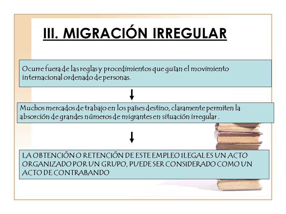 III. MIGRACIÓN IRREGULAR