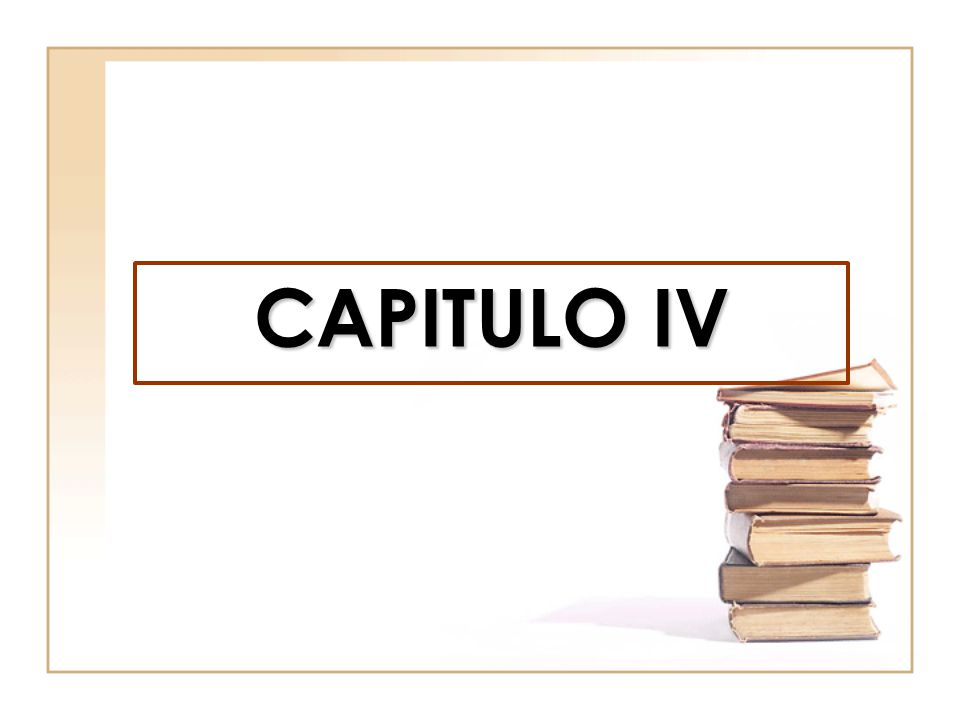 CAPITULO IV