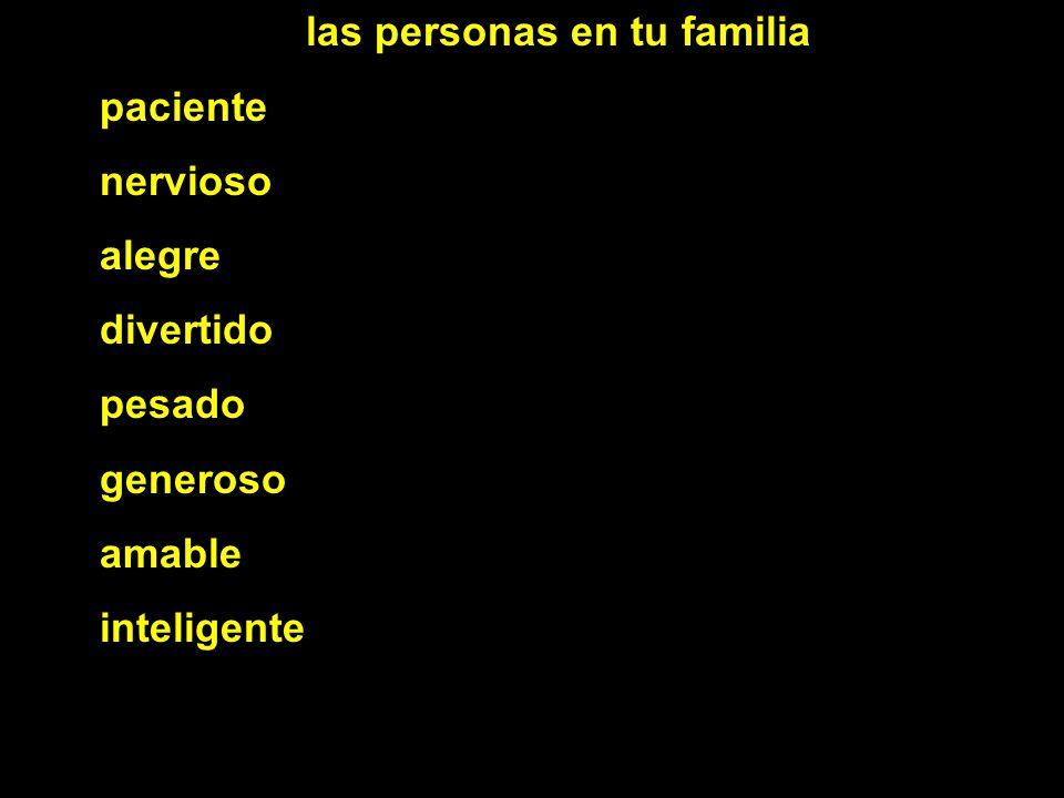 las personas en tu familia