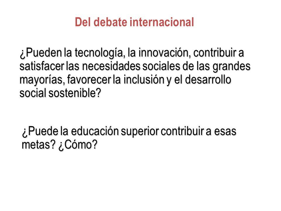 Del debate internacional