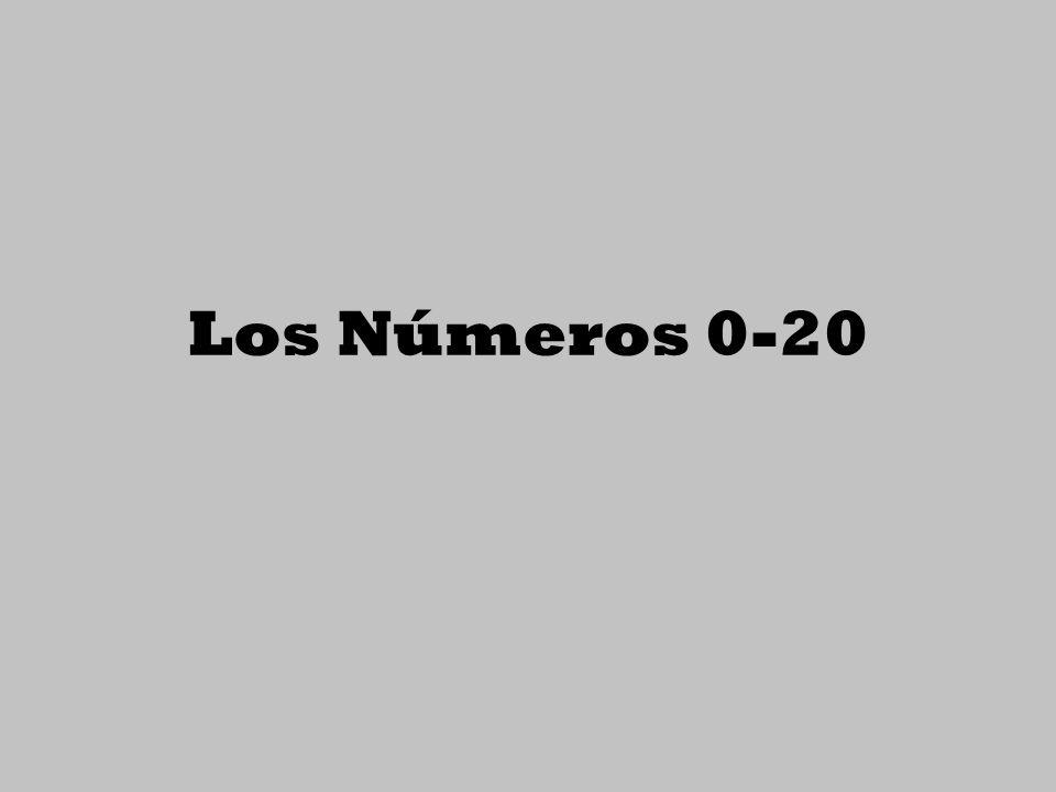Los Números 0-20