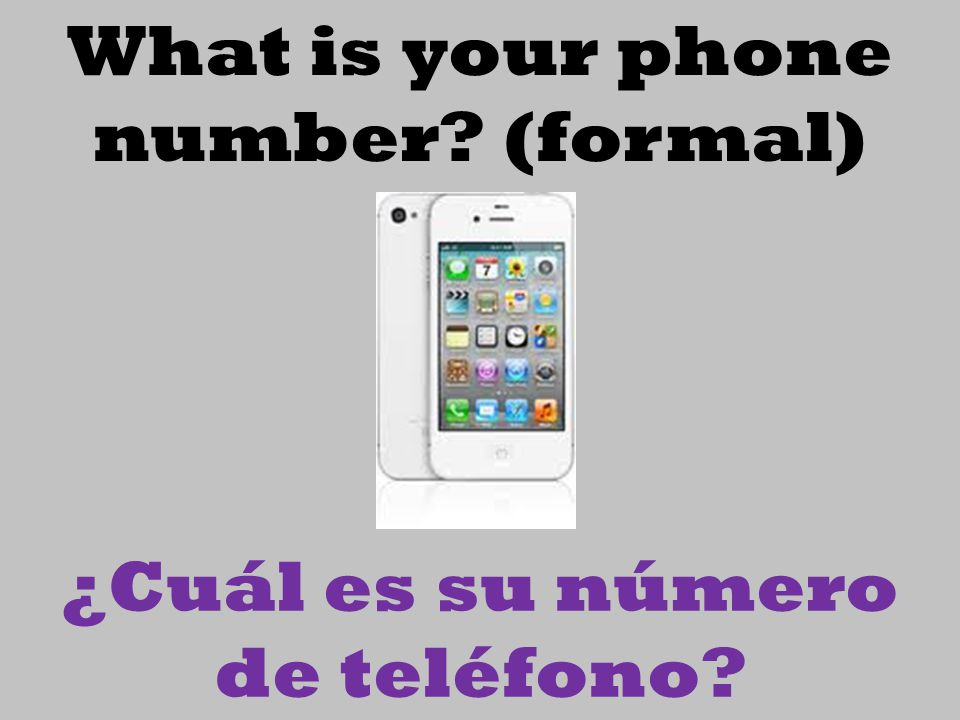 What is your phone number (formal)
