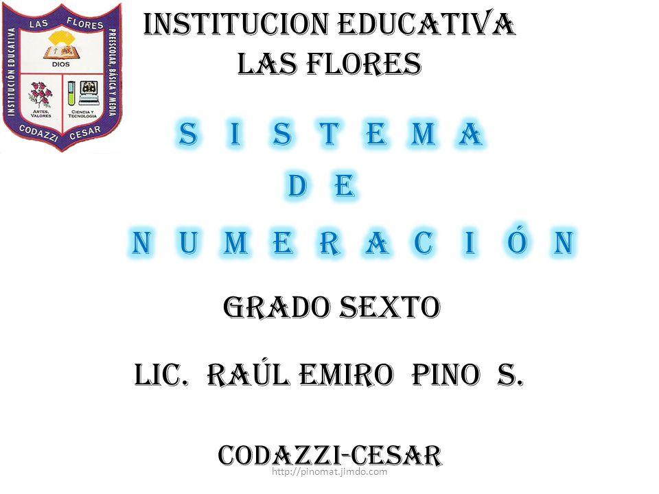INSTITUCION EDUCATIVA LAS FLORES
