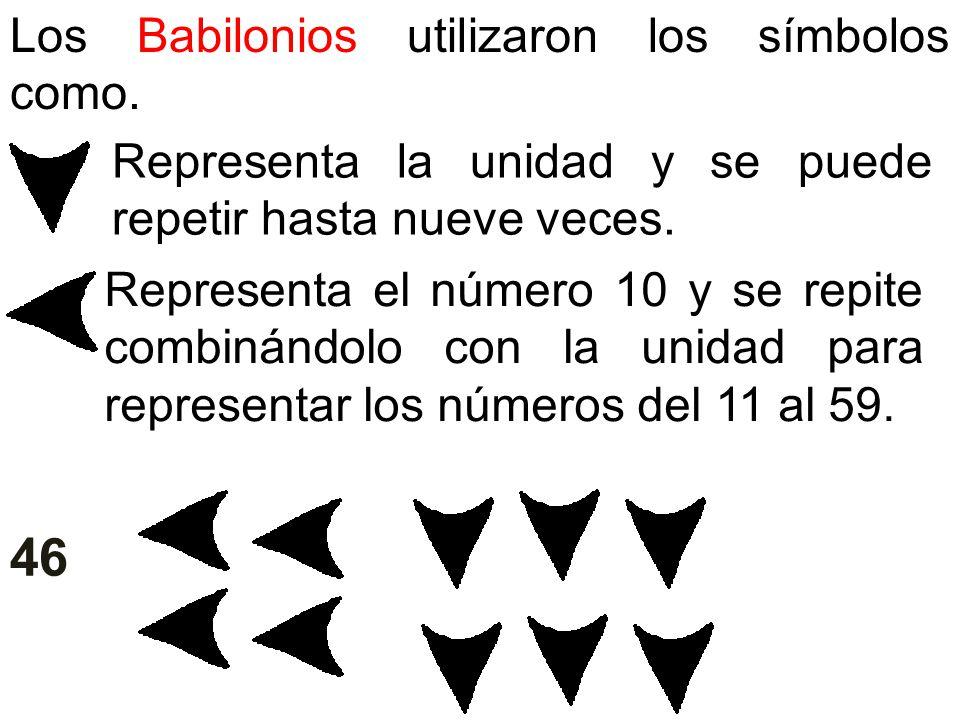 46 Los Babilonios utilizaron los símbolos como.