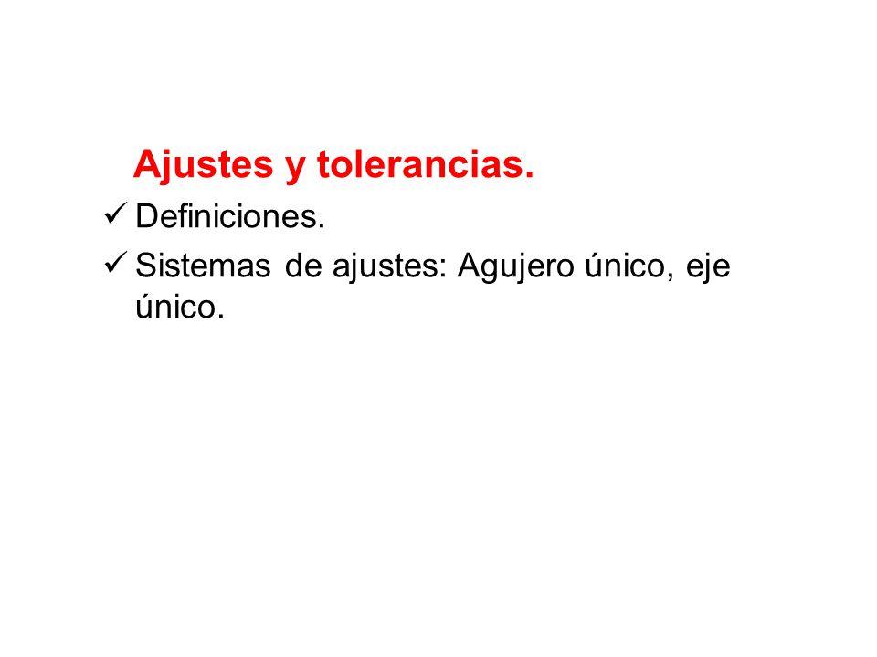 Ajustes y tolerancias. Definiciones.