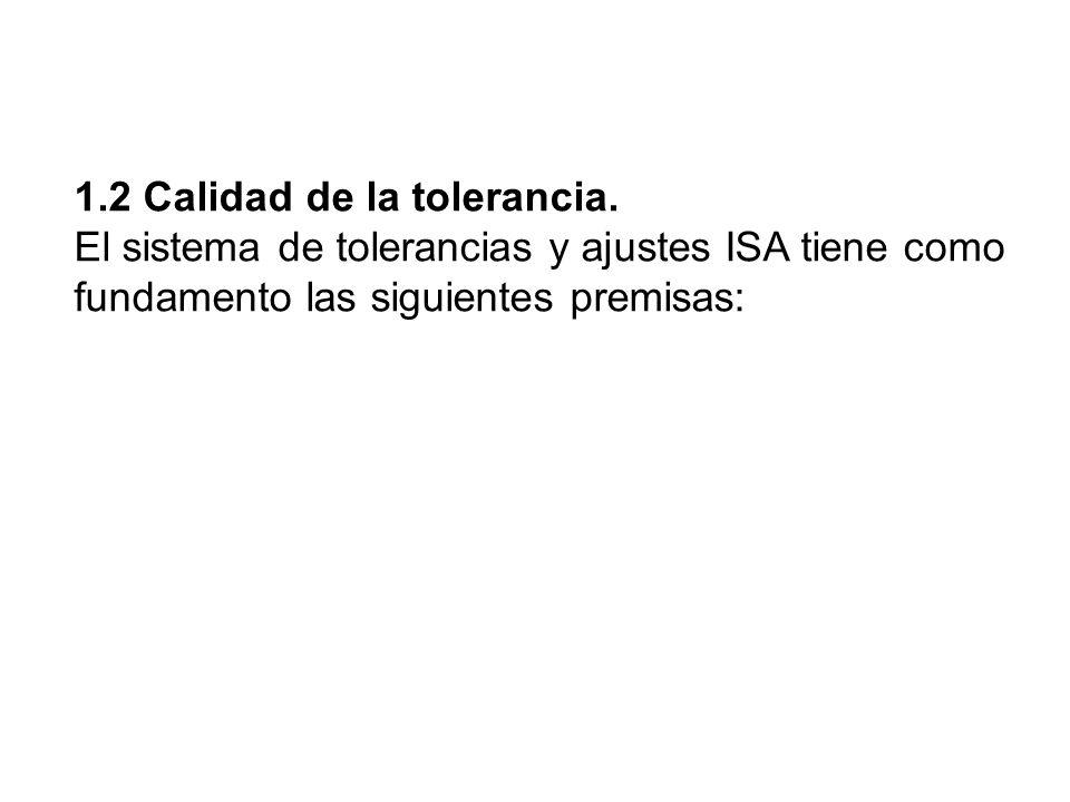 1.2 Calidad de la tolerancia.