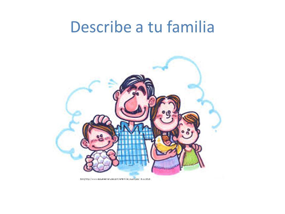 Describe a tu familia Zdrojhttp://www.escuelaenlanube.com/la-familia-y-sus-tipos/ 8.11.2013