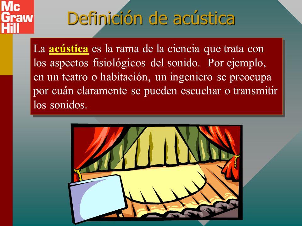 Definición de acústica